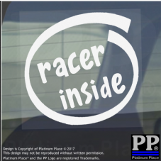 1 x Racer Inside-Window,Car,Van,Sticker,Sign,Vehicle,Racing,Track,Speed,Fast,GTR